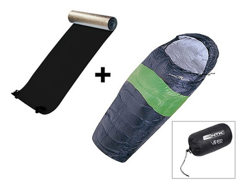 Imagem 1 de 6 de Saco De Dormir Térmico Nautika Viper + Isolante Térmico 6mm