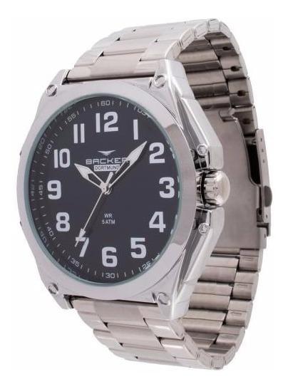 Relógio Backer Masculino 6462123m Pr, C/ Garantia E Nf