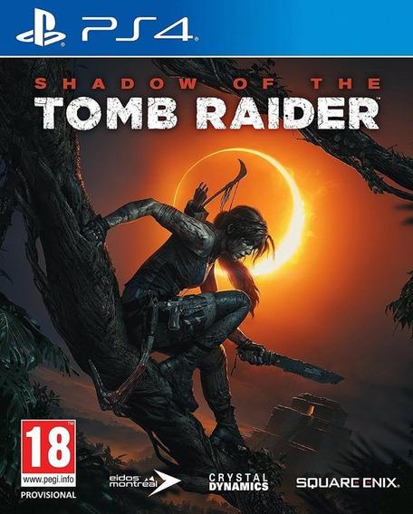 Shadow Of The Tomb Raider Midia Fisica Novo Original Ps4