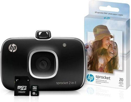 Câmera E Impressora Fotográfica Hp Sprocket - 2 Em 1 - Nov