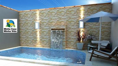 Casa C/ Piscina À Venda, 2 Dormitórios No Balneário Oásis Em Peruíbe. - Codigo: Ca0269 - Ca0269