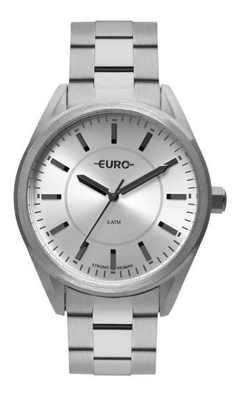 Relógio Euro Feminino Strong Woman Spikes Prata Eu2035yqa/3k
