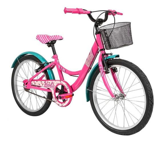 Bicicleta Barbie Sr Aro 20 Rosa Caloi