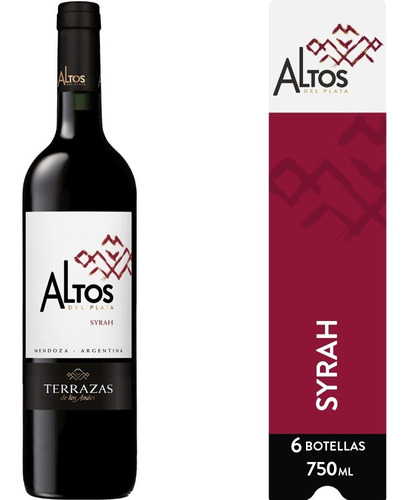 Imagen 1 de 6 de Vino Altos Del Plata Syrah Caja 6u X 750ml