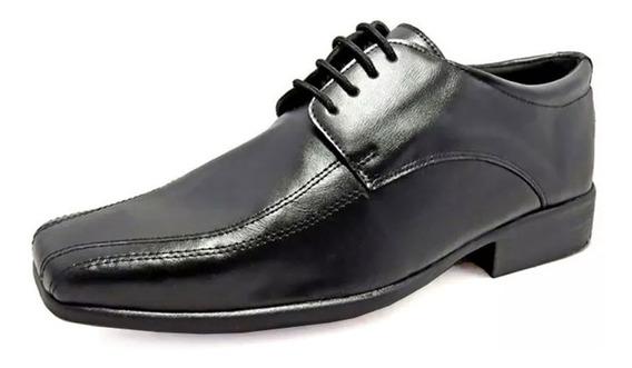 Sapato Social Masculino 9500 Preto Tamanho Grande Especial