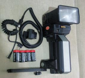 (oferta Fds R$499) Flash Sunpak-corpo,cabeça Zoom,acessórios