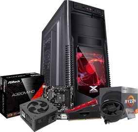 Kit Orion Ryzen 5 2400g A320m Hd Geil 8gb Ptz Fonte 500w