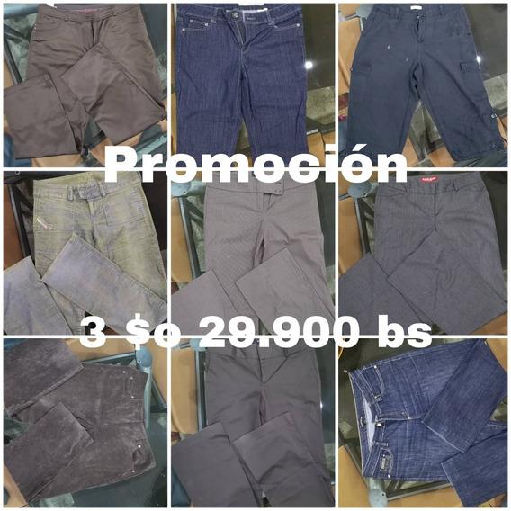 Pantalon Bota Ancha De Marron Tela Originales Guess Tallas L