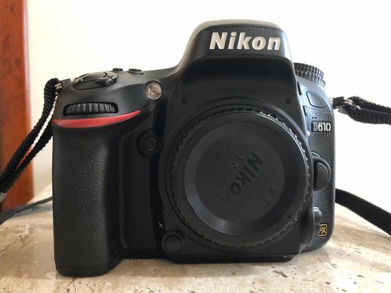 Câmera Nikon D610 (38k Cliques) + Bolsa Cânon Original