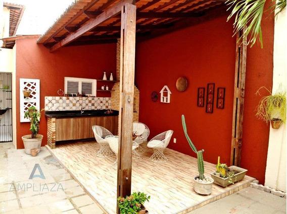 Casa Com 3 Dormitórios Para Alugar, 160 M² Por R$ 2.000/mês - Cambeba - Fortaleza/ce - Ca0151