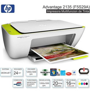 Impresora Hp Deskjet Ink Advantage 2135 All In One
