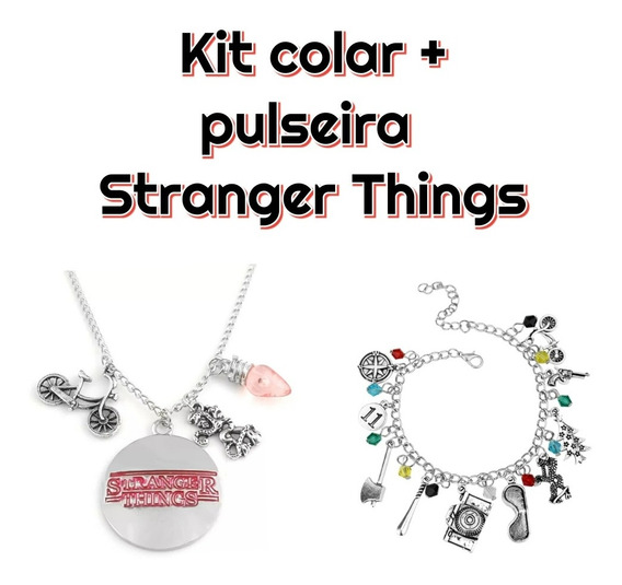 Kit Colar + Pulseira Stranger Things 2 Pcs