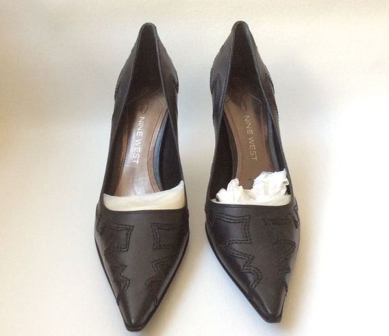 Zapatos Para Mujer Marca Nine West Talla 8 1/2 Color Negro