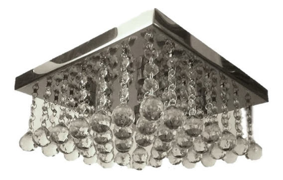Lustre De Cristal 30x30sala De Estar Mod.mrv $299,00 Por