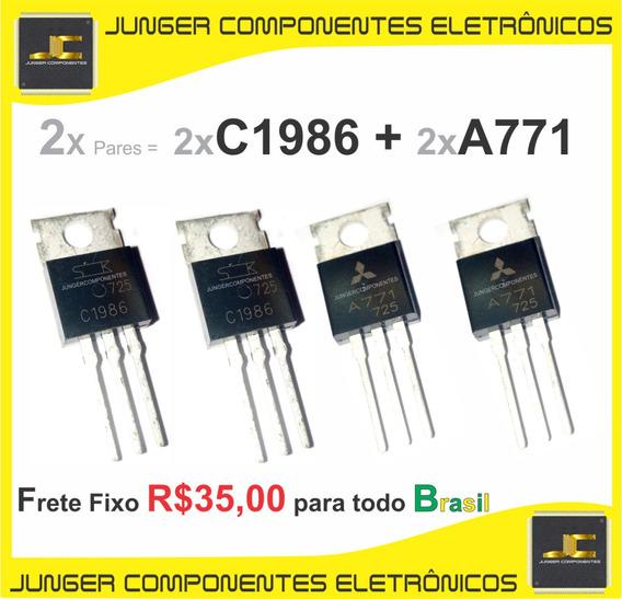A771 - 2sa771 - C1986 - 2sc1986 - 2x Pares = 4 Peças - Tr Reparo De Receiver Marantz , Sansui, Sony , Polyvox .etc.