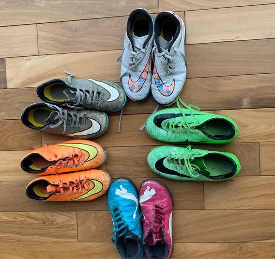 Lote Zapatillas De Fútbol Usadas Liquido