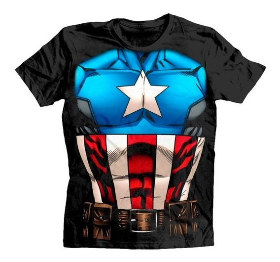 Civil War Playera Capitan America Para Caballero Original