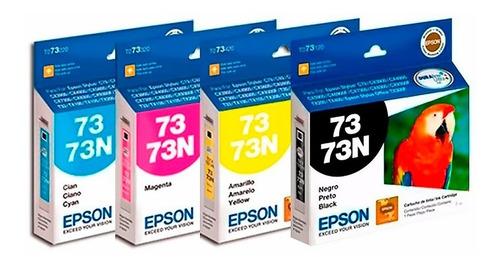 Combo Cartuchos Epson 73 73n Tx200 C79 Cx3900 Originales
