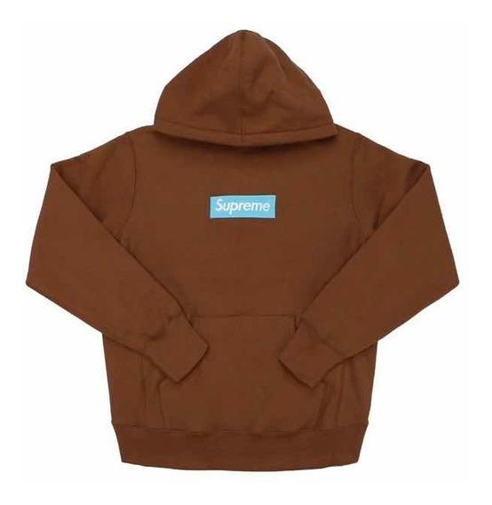 Buzo Supreme Box Logo Hooded Sweatshirt (fw17) Rust