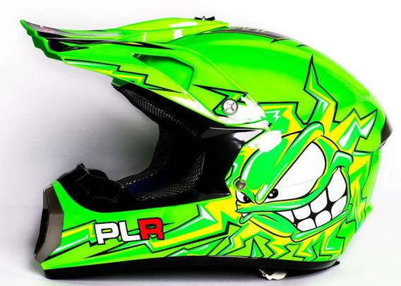Casco Plr Motocross Cross Enduro Off Road Niños Adultos