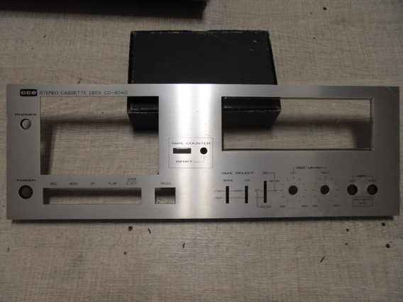 Painel Frontal Tape Deck Cce Cd4040 Vintage Cd-4040