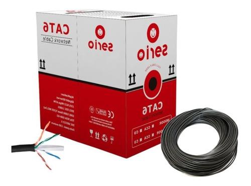 Cable Utp Cat 6 Exterior Aleación X 100 Metros