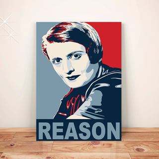Pôster Ayn Rand - Placa Rígida A3 C/fixador #pdv113a0