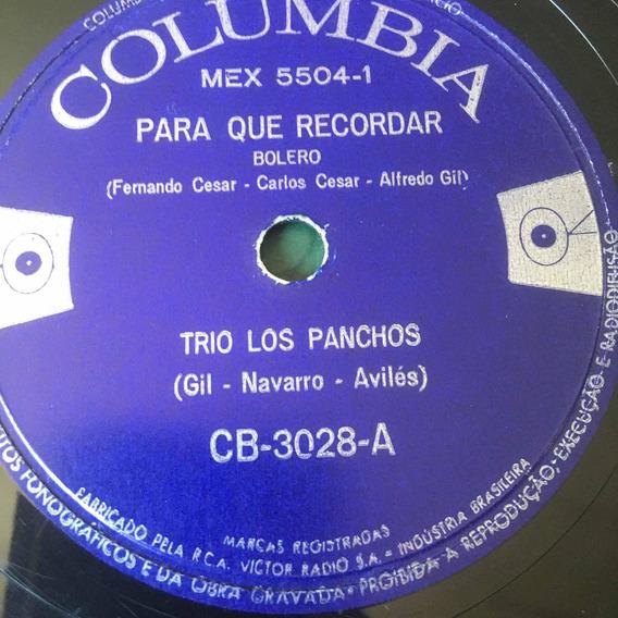 Lp 10 Pol - Trio Los Panchos - Para Que Recordar