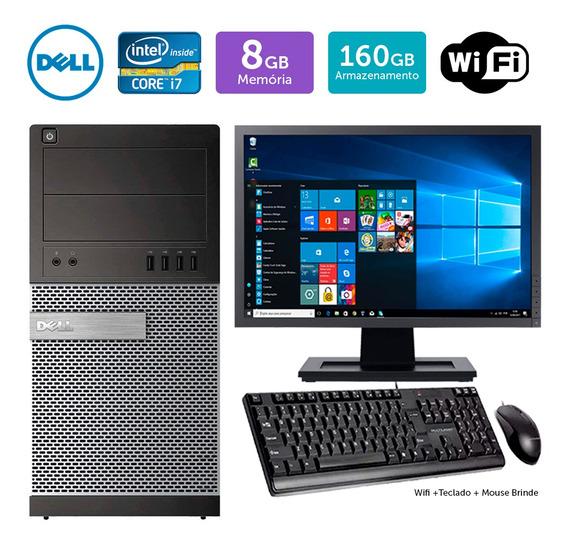 Cpu Usado Dell Optiplex 7010mt I7 8gb 160gb Mon17w Brinde