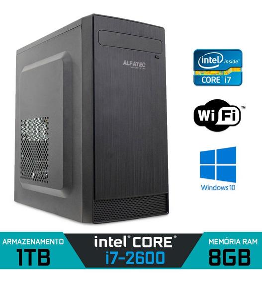 Computador Intel Core I7-2600 Ram 8gb Hd 1tb Wi-fi Win 10