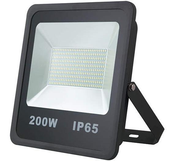 Refletor De Led 200w Smd Preto - Luz Branca Fria 6000k