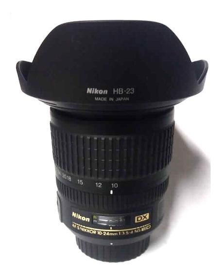 Lente Nikon Nikkor Af-s Dx 10-24mm F/3.5-4.5g Ed Com Parasol