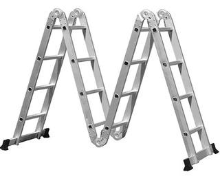 Escada Multifuncional 4x4, 16 Degraus Com 2 Plataformas Mor