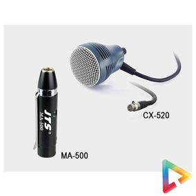 Microfone Para Gaita Jts Cx 520 Ma 500 Harmonica
