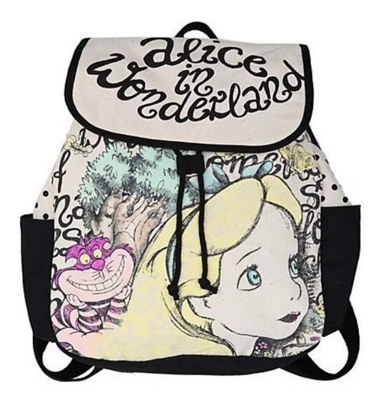 Mochila Backpack Disney Alice Wonderland 100% Importada