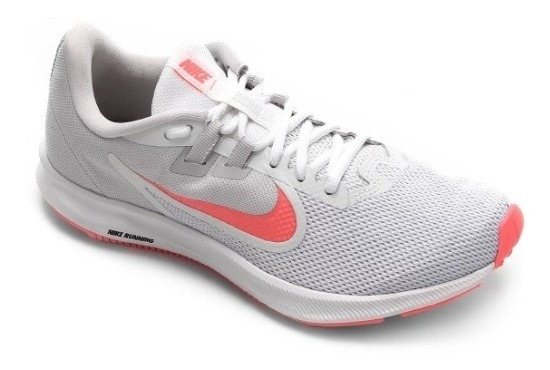 Tênis Nike Feminino Downshifter 9 Branco E Rosa Original