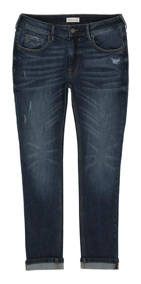 Jeans Con Pequeñas Destrucciones De Hombre C&a 1053461