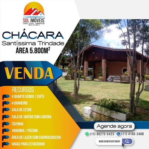 Imagem 1 de 14 de Chácara Com Piscina, Área 5800m² Á Venda