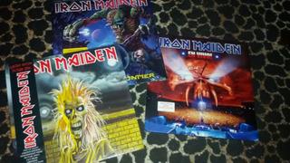Iron Maiden 3 Vinilos Picture +remera De Regalo