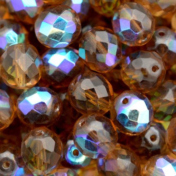 Cristal Marrom Irizado 8mm - 100 Unidades - Guia Umbanda