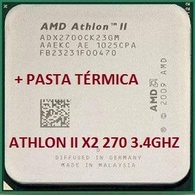 Processador Athlon Ii X2 270 3.4ghz Am2+/am3 + Pasta Térmica
