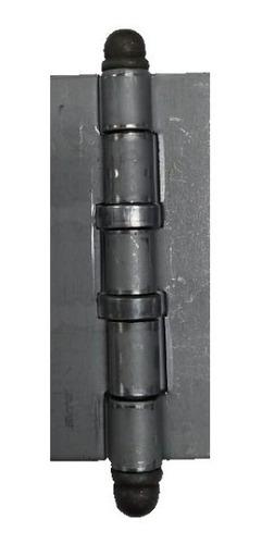 Imagen 1 de 6 de Bisagra Municion 100x37x2,5mm Hierro Fumaca