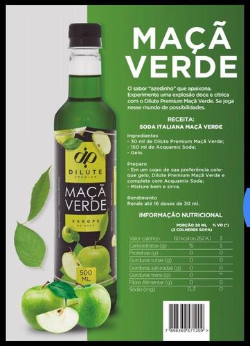 Xarope Essência Dilute Premium Soda Italiana Maçã Verde