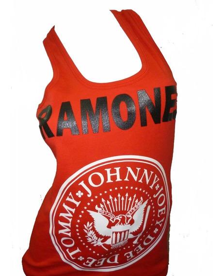 Ramones Musculosas Dama Varios Colores Punk Que Sea Rock