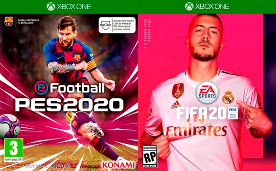 Pes 2020 + Fifa 20 Em Português Xbox One Digital + Brinde