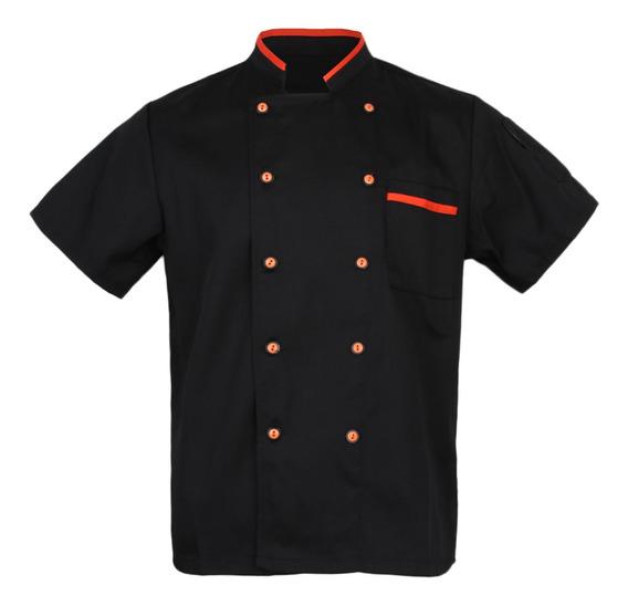 Jaqueta Unissex Hotel/cozinha Chef Uniforme De Manga Curta B