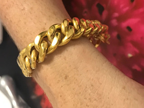 Pulseira Ouro 18k.-23.8gr.-18.8cm.-12mm.larg.