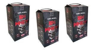 3x Whey Proten Skull 6kg Pronta Entrega (wey Way 3w 5w)