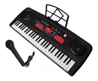 Teclado Musical Con 54 Teclas Y Microfono Mitzu Mtc-5470