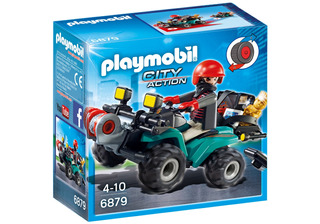 Playmobil Ladron Con Quad Y Botin 6879 - Compunet